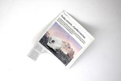 """Laetitia de Chocqueuse, 'Coupure de l'Emanticipation (titre de l'article """"persue, retrouvée... et pardue à nouveau"""") - L'Emanticipation - 11 juin 2025 - coupure I, 2017', 2017"""