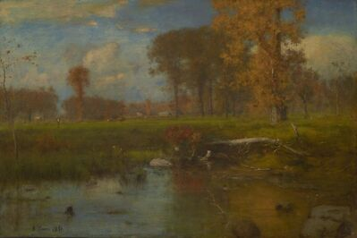 George Inness, 'Spirit of Autumn', 1891