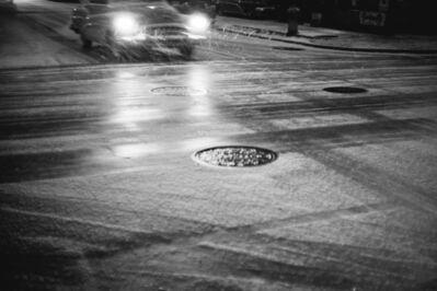 Werner Bischof, 'Car in snowfall, New York, USA', 1953