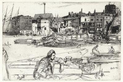 James A. M. Whistler, 'Black Lion Wharf', 1859