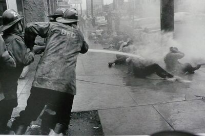 Charles Moore, 'Birmingham Fire Department with Hoses', 1963