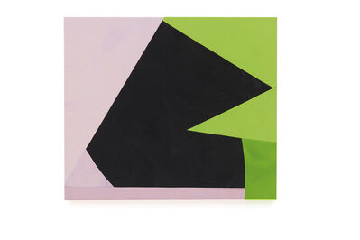 Sarah Crowner, 'Rotated Shadow (lilac and green)', 2019
