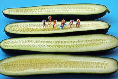 Christopher Boffoli, 'Cucumber Sunbathers', 2011