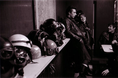 John 'Hoppy' Hopkins, 'Helmets on Shelf from the 'Bikers' Series', ca. 1965