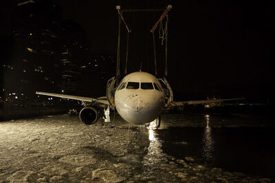 """Stephen Mallon, '""""She's Looking at You"""" Miracle on the Hudson Flight 1549, Hudson River, NY', 2009"""