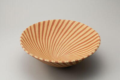 Ito Sekisui V, 'Mumyōi Neriage; Large Bowl with Line Patterns ', 2016