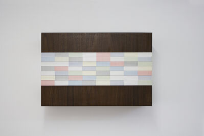 Brian Wills, 'Untitled (Red, Gold, Silver, Wall Sculpture)', 2016