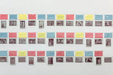 Carolee Schneemann, 'A-B-C – We Print Anything – In The Cards', 1977