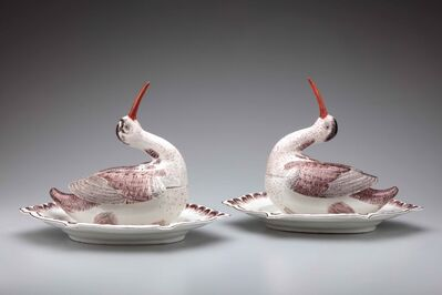 Höchst Porcelain Manufactory, 'Pair of woodcock tureens', ca. 1750-55