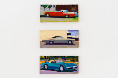 Stephen Lack, 'Red Chrysler, Chevy Biscayne, Blue Corvette', 2018-2019