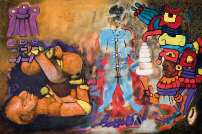 Aubrey Williams, 'Maya Ritual V,(Olmec Maya series)', 1984