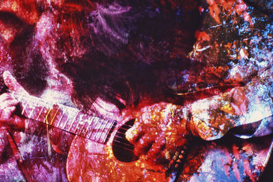Mitchell Funk, 'Psychedelic Hippie Guitar Player Washington Square Park', 1970