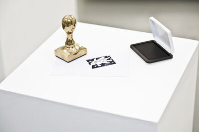 Libia Castro and Ólafur Ólafsson, 'Your Country Doesn't Exist (copper stamp)', 2013