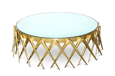 "Roberto Giulio Rida, '""Compasso,"" Circular Cocktail Table', 2015"