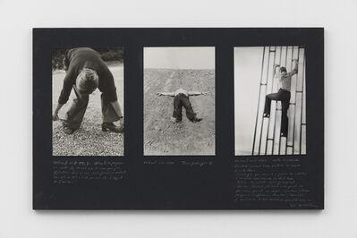 Gina Pane, 'Extraits: Work in progress. Extrait octobre, 1969 Terre protégée II. Extrait mai, 1970 Auto-escalade. Extrait avril, 1971', 1969-1971