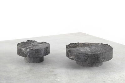 Mathieu Lehanneur, 'Ocean Memories Circular Low Table Grey (XL)', 2017