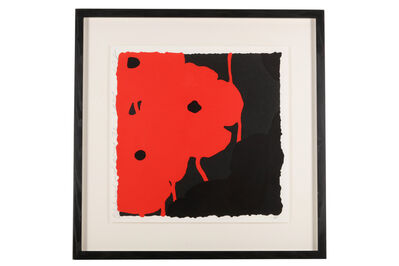 Donald Sultan, 'Black and Red'
