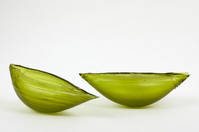 Ann Robinson, 'Olive Green Pericarp Amphora (pair)', 2019