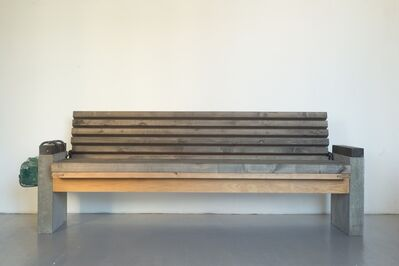 VYTAUTAS VIRŽBICKAS, ' A bench for homeless', 2016