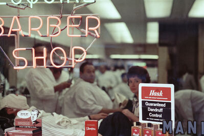 Mario Carnicelli, 'Barber shop neon, Chicago', 1966