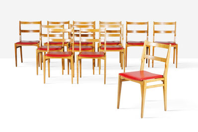 Melchiorre Bega, 'Set of 12 chairs', 1960