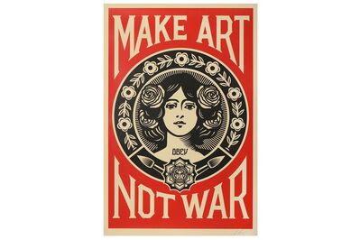 Shepard Fairey (OBEY), 'Make Art Not War'
