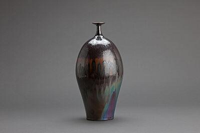 Hideaki Miyamura, 'Vase, iron spot glaze'