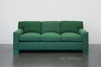 Roy McMakin, 'Domestic Sofa in Handwoven Green Fabric', 1989-2014