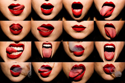 Tyler Shields, 'Mouthful', 2012