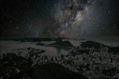 Thierry Cohen, 'Rio de Janeiro 22° 56' 42'' S 2011-06-04 LST 12:34 from Darkened Cities', 2011