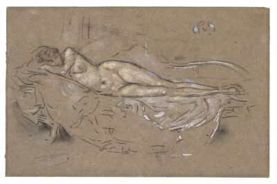 James Abbott McNeill Whistler, 'Nude Reclining', 1893-1900