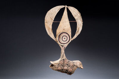 Oceanic Art, 'Surreal Oceanic Mask, Baining Culture, Papua New Guinea, Tribal Art', early 20th century