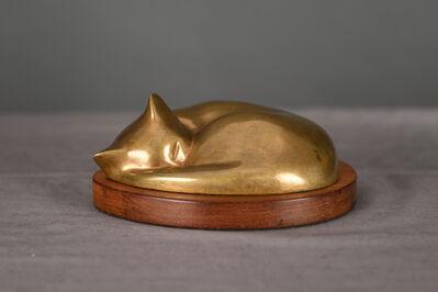 William Zorach, 'Sleeping Cat'