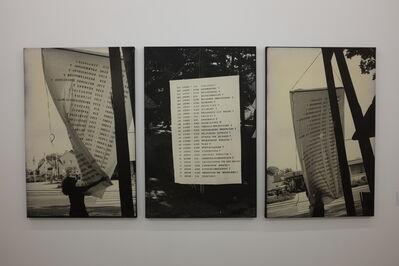 Lea Lublin, 'Questions qui flottent dans l'air', 1975