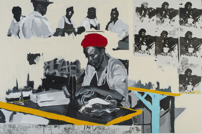 Kudzanai-Violet Hwami, 'Sam in Mother's Factory', 2017