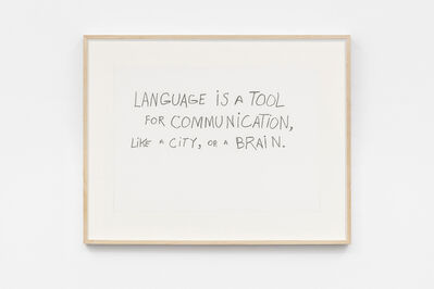 Jimmie Durham, 'Language is a Tool for Communication', 1992