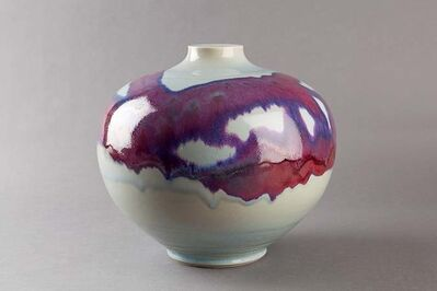 Brother Thomas Bezanson, 'Vase, copper red and opal glaze'