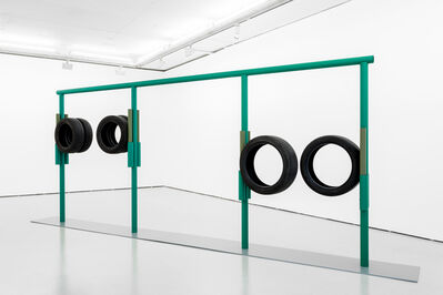Ângela Ferreira, 'Crouch-touch-pause-engage (green)', 2020