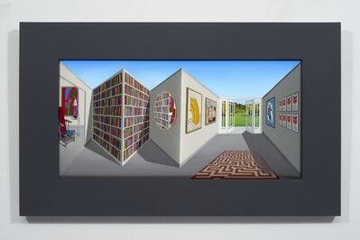 Patrick Hughes, 'Living Library', 2017