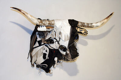 Ken Little, 'Black and White Longhorn', 2007