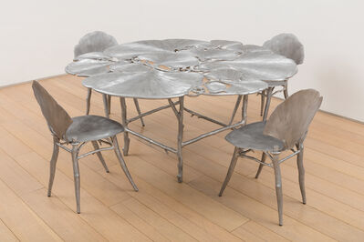 Claude Lalanne, 'Ginkgo Table and Chairs', 1996/2010