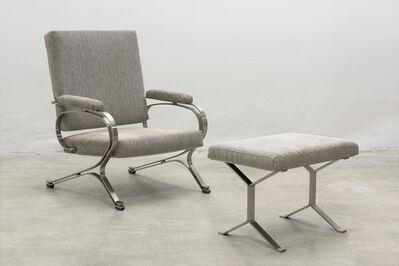 Giulio Moscatelli, 'Vintage Italian Modern Armchair and Ottoman by Giulio Moscatelli, ca. 1970', 1970s