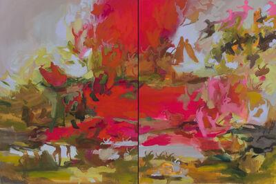 Iwalani Kaluhiokalani, 'Rhythm Of Earthly Delights, diptych', 2020
