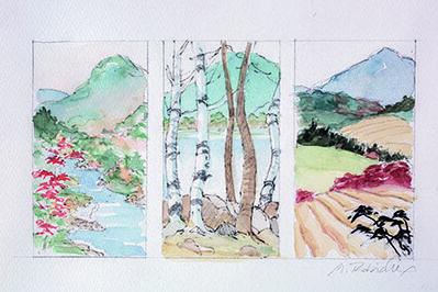 Marguerite Robichaux, 'Maine Mountain Study'