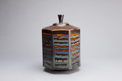 Hideaki Miyamura, 'Octagon box, blue waves glaze', 2018