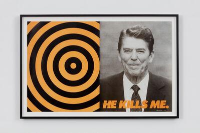 Donald Moffett, 'He Kills Me', 1987