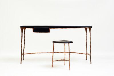 "Valentin Loellmann, '""Spring/Summer"" desk and stool', 2015"