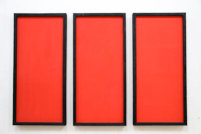 David Nash, 'Three Reds - Three Directions', 2014