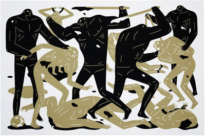 Cleon Peterson, 'Between Man & God (White)', 2018