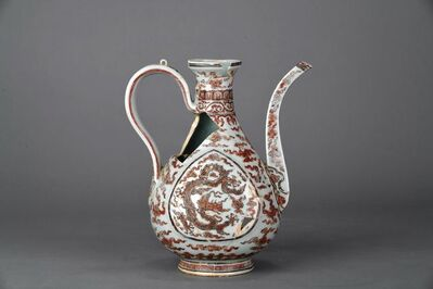 Unknown Artist, 'Ewer with dragons and cloud in underglaze blue and overglaze red enamel', Zhengtong to Tianshun, Ming Dynasty(1436, 1464)
